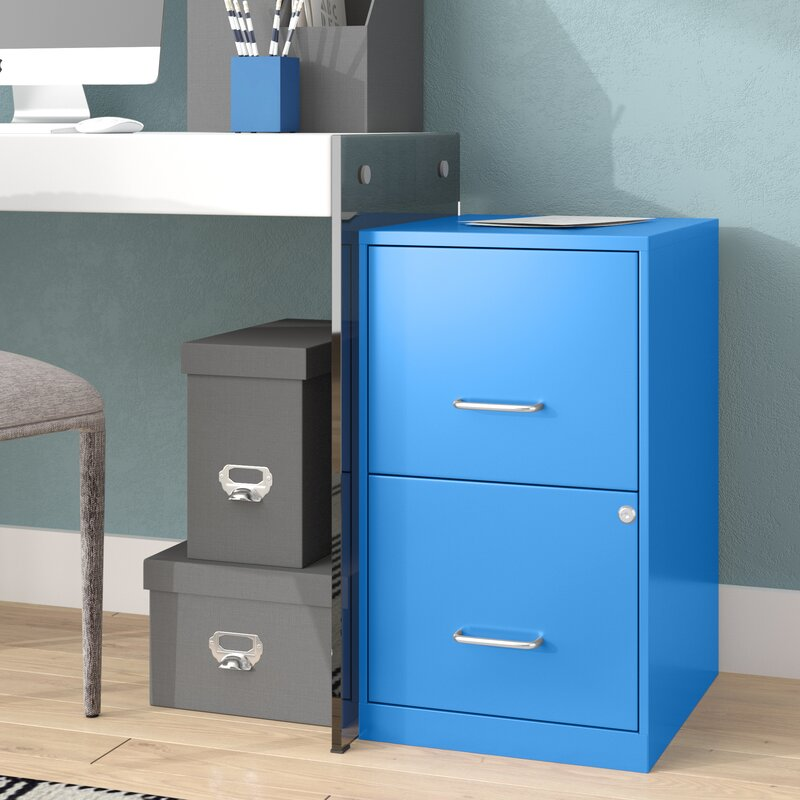 wrought studio chaidez 2 drawer file cabinet & reviews | wayfair 2 drawer file cabinet