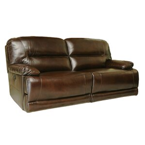 Bartlet Leather Reclining Sofa by Darby Home Co