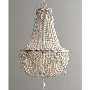 Image of: Beaded Lighting Intended Demontfort Beaded 3light Empire Chandelier Light Fixture Wayfair
