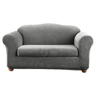 Superbe Stretch Madison Box Cushion Loveseat Slipcover