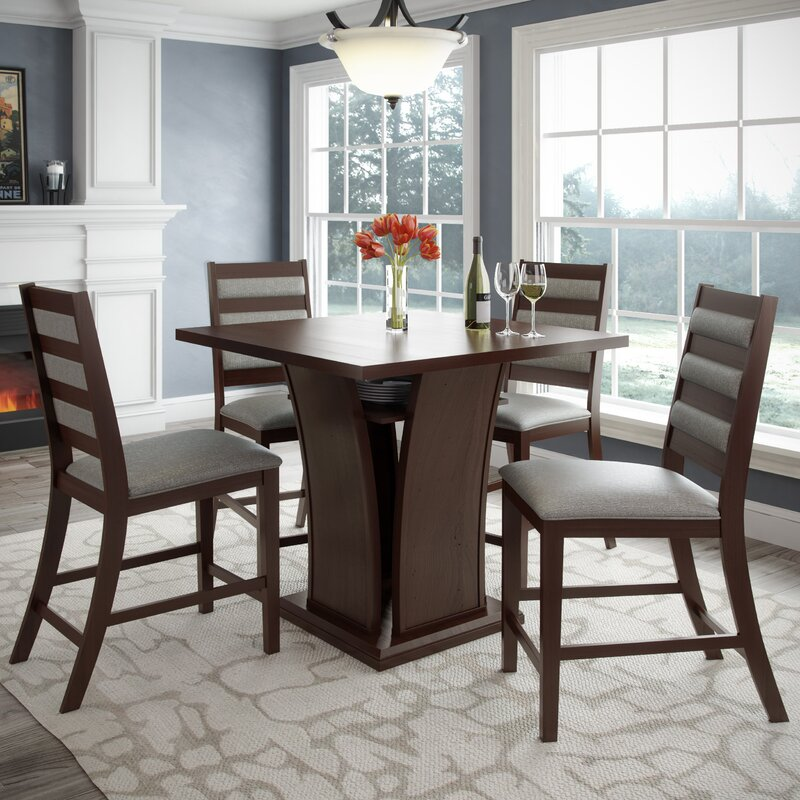 Red Barrel Studio Burgess 5 Pieces Counter Height Dining Set ...