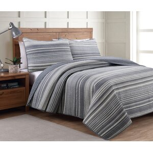 Polyester Reversible Quilt Set
