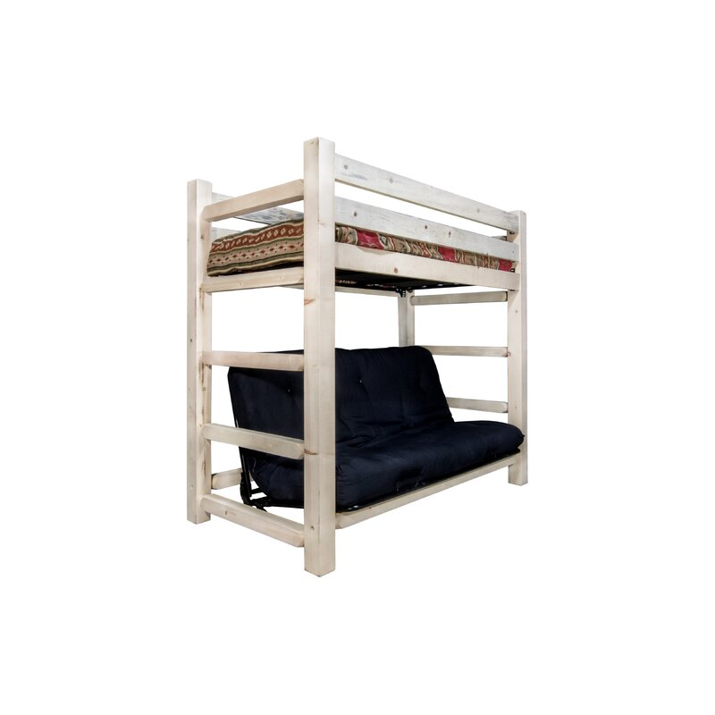 Haleigh Bunk Bed 44 Non Toxic Cotton Twin Futon Mattress