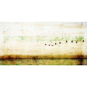 'Birds Flying' by Parvez Taj Painting Print on Wrapped Canvas