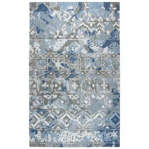Duron Hand-Tufted Wool Gray/Blue Area Rug