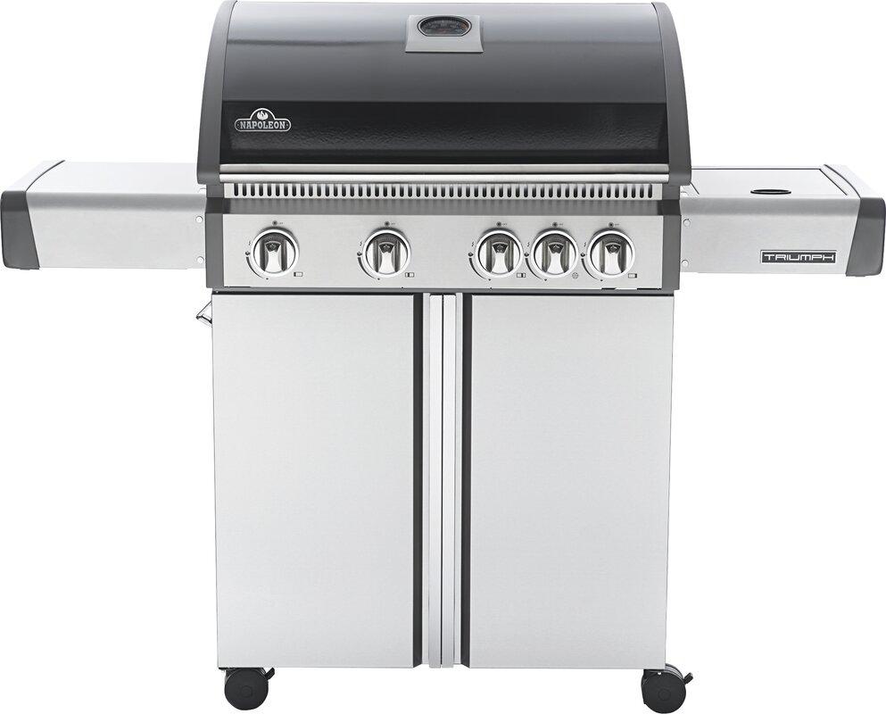 napoleon triumph 5 burner propane gas grill with cabinet u0026 reviews