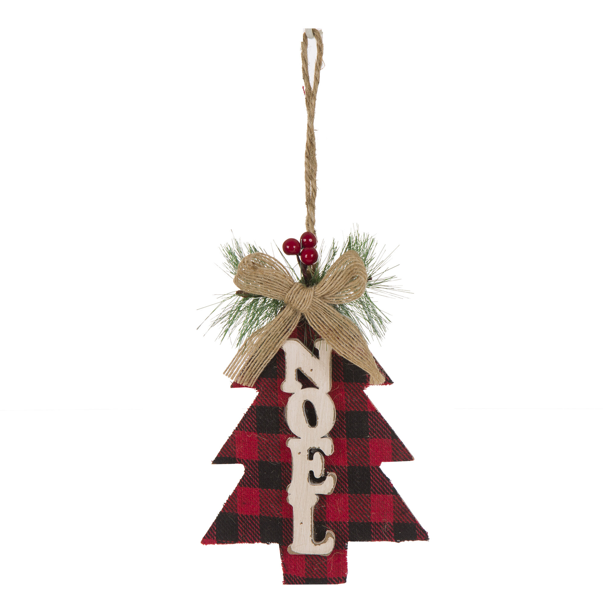 The Holiday Aisle \'Noel\' Wooden Tree Shaped Ornament & Reviews | Wayfair