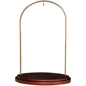 Ne'Qwa Walnut Hanging Wood/Metal Stand