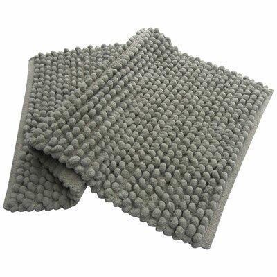 Benzara Pebbles Plush Bath Rug Color: Gray