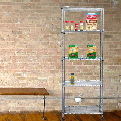 4 Tier Metal Storage Rack with Wheels & Mind Reader 4 Tier Metal Storage Rack with Wheels u0026 Reviews | Wayfair