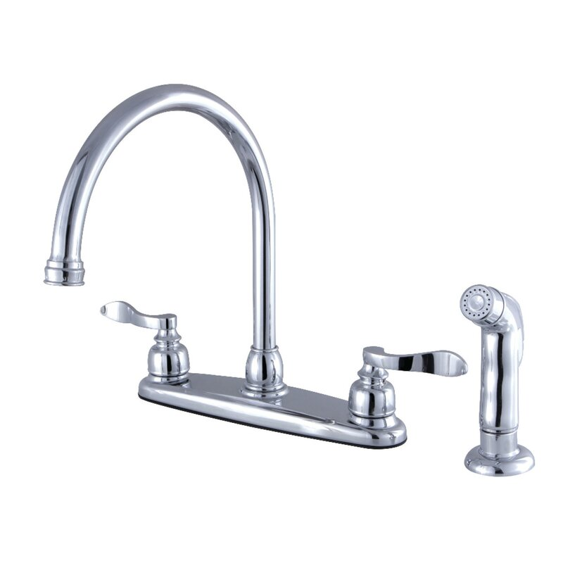Gooseneck Kitchen Faucet With Side Sprayer