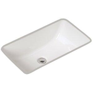 Petite Covington Vitreous China Rectangular Undermount Bathroom Sink with Overflow