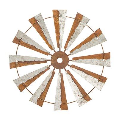 Rustic Metal Windmill Clock Wayfair