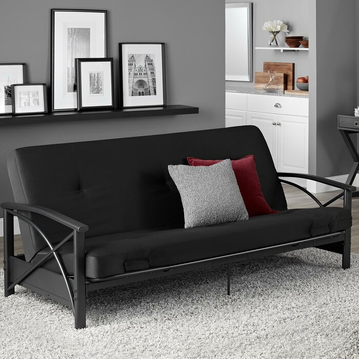 Dorinda Metal Arm Futon And Mattress