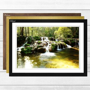 'Landscape Forest Wood Stream 6' Framed Photographic Print