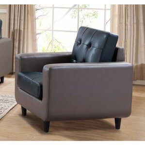 Drumheller PU Leather Armchair by Latitude Run