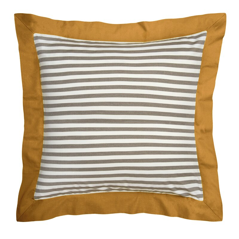 Draper Stripe Ash Duvet Cover Amp Reviews Allmodern