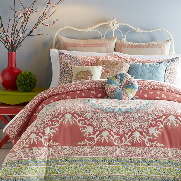 jessica simpson home amrita medallion 400 thread count 100 cotton comforter set u0026 reviews wayfair