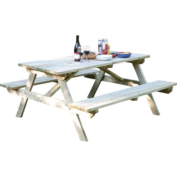 Rowlinson picnic table reviews wayfair for 10 person picnic table