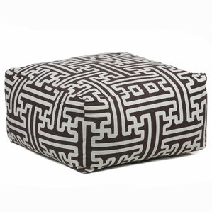 Clandown Textured Contemporary Printed Pouf Ottoman by Bloomsbury Market