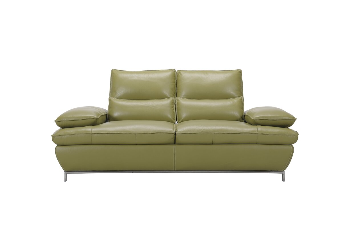 Creative furniture naomi leather sofa reviews wayfair for Naomi in the living room script