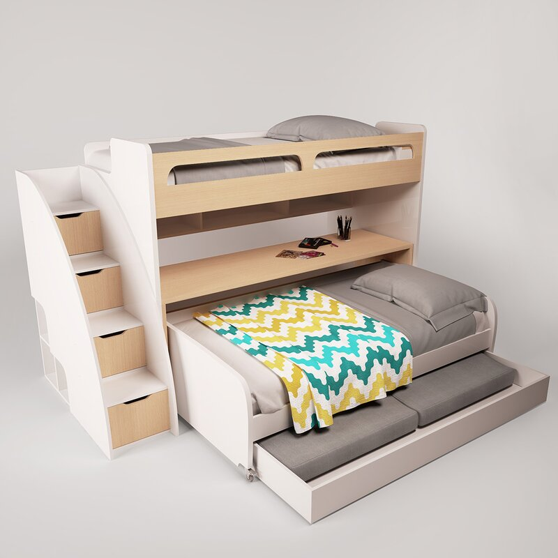 Sensational Gautreau Twin L Shaped Bunk Bed With Trundle Download Free Architecture Designs Scobabritishbridgeorg