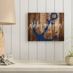 Personalized Anchor Aluminum Metal Wall Art
