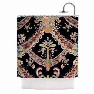 U0027Vintage Paisley Patternu0027 Art Deco Shower Curtain