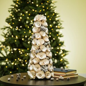 faux floral tabletop tree - Table Christmas Tree