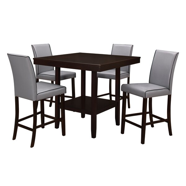 Mckee 5 Piece Counter Height Dining Set