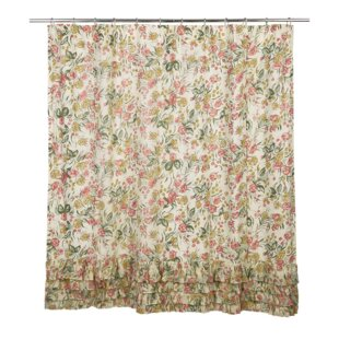 Manzanita Cotton Ruffled Shower Curtain