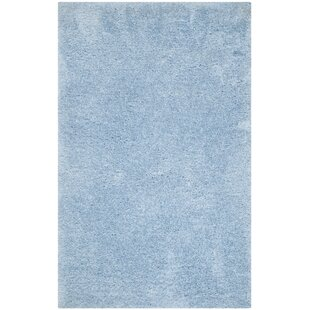 Page Light Blue Shag Area Rug