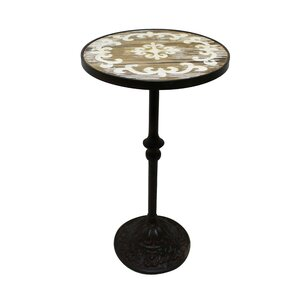 Amar Wood Top End Table by Oph..