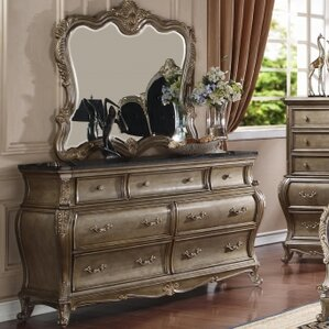 Moreno 7 Drawer Dresser with Mirror by Rosdorf Park