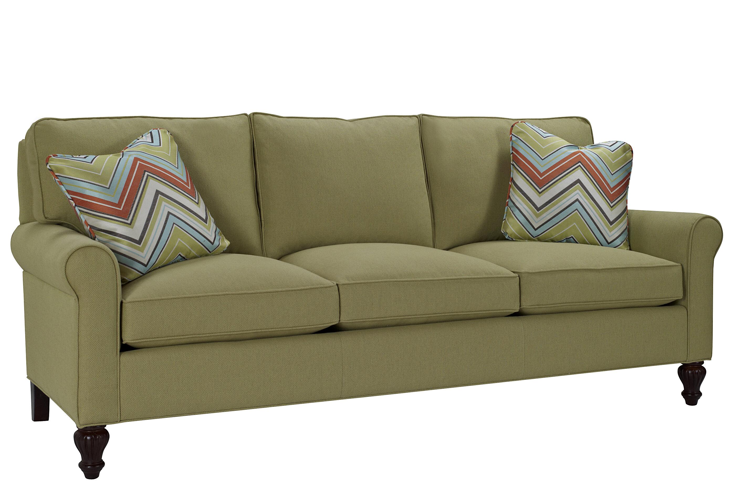 Classic Comfort Curved Arm Three Loose Pillow Back Sofa | Wayfair