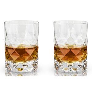 Rayeu2122 Gem Crystal 10 oz. Old Fashioned Glass (Set of 2)