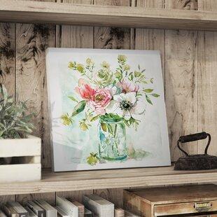 U0027Asbury Garden Belle Bouquet IIu0027 Acrylic Painting Print On Canvas
