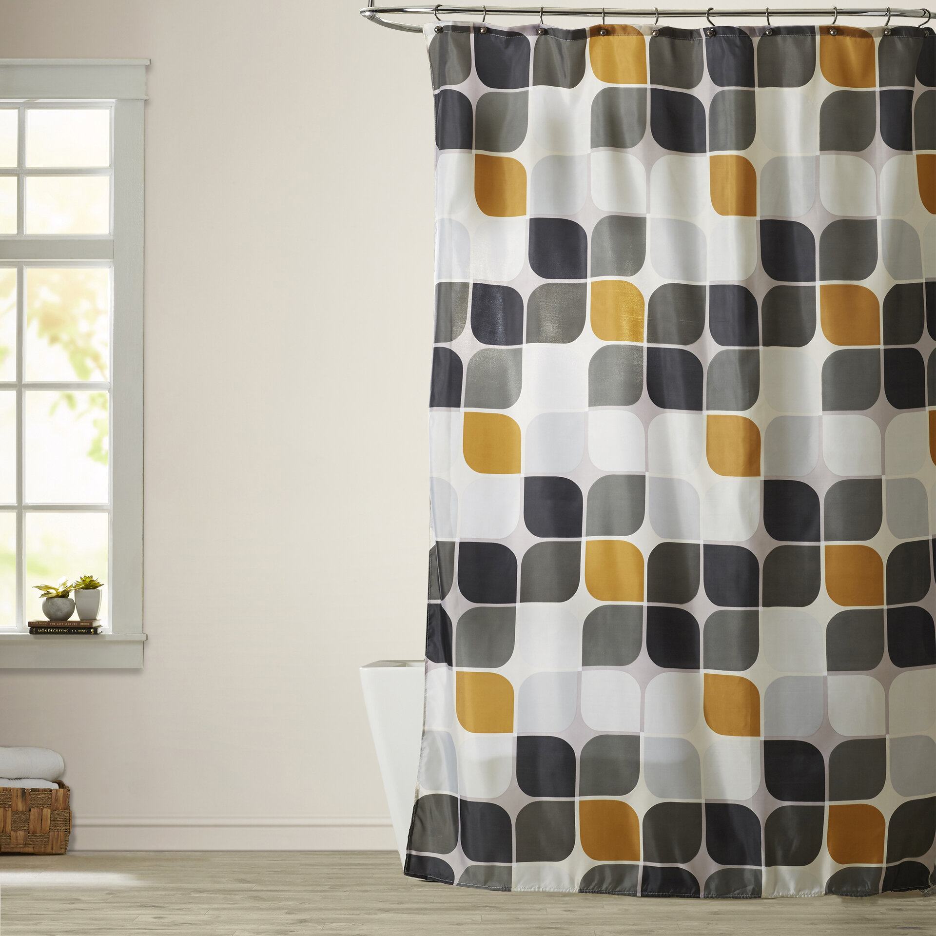 Morales Extra Long Single Shower Curtain