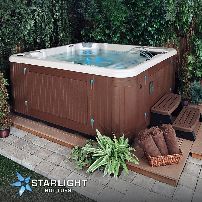 Starlight Hot Tubs Sirius 7-Person 115-Jet Spa with Waterfall | Wayfair