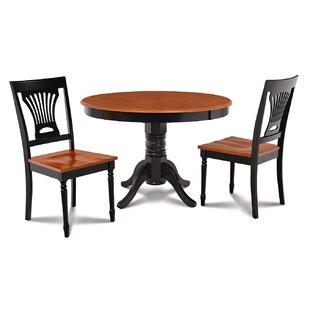 Cedarville Contemporary 3 Piece Solid Wood Dining Set