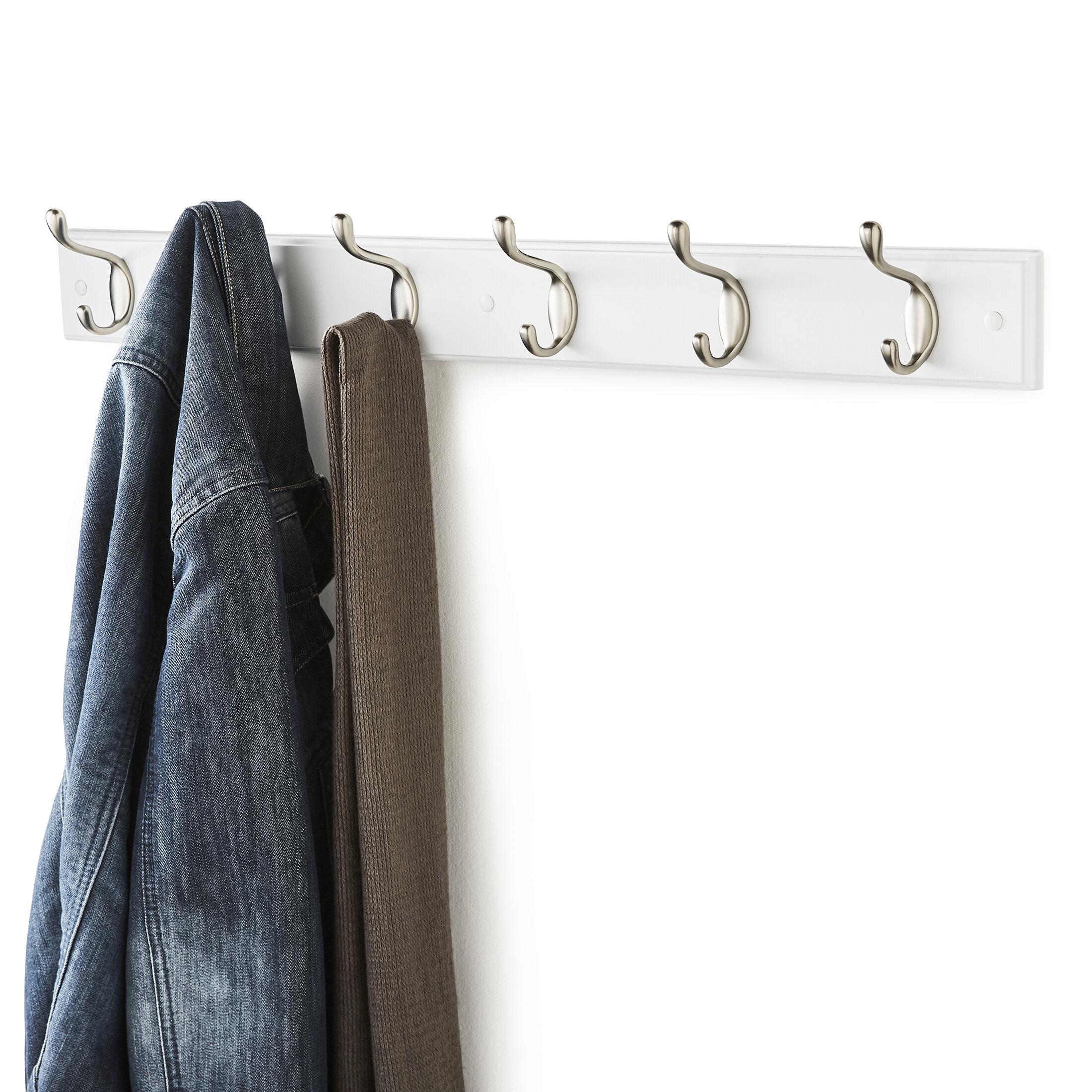 Wayfair Basics Wall Mounted Coat Rack With 6 Hooks Reviews Co Uk