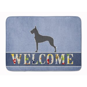 Great Dane Welcome Memory Foam Bath Rug
