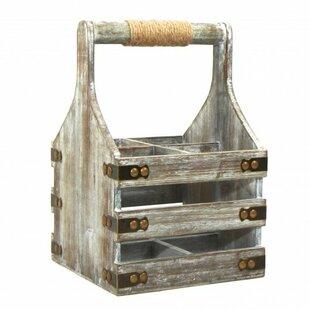 Prahl Wooden 4 Bottle Tabletop Wine Rack