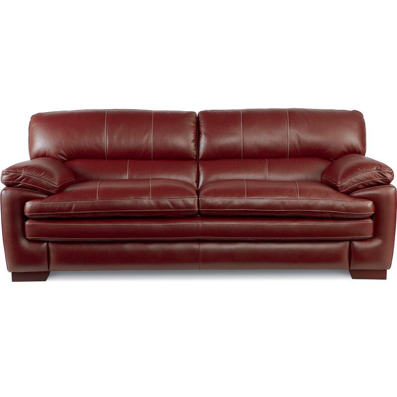 La-Z-Boy Dexter Leather Sofa & Reviews