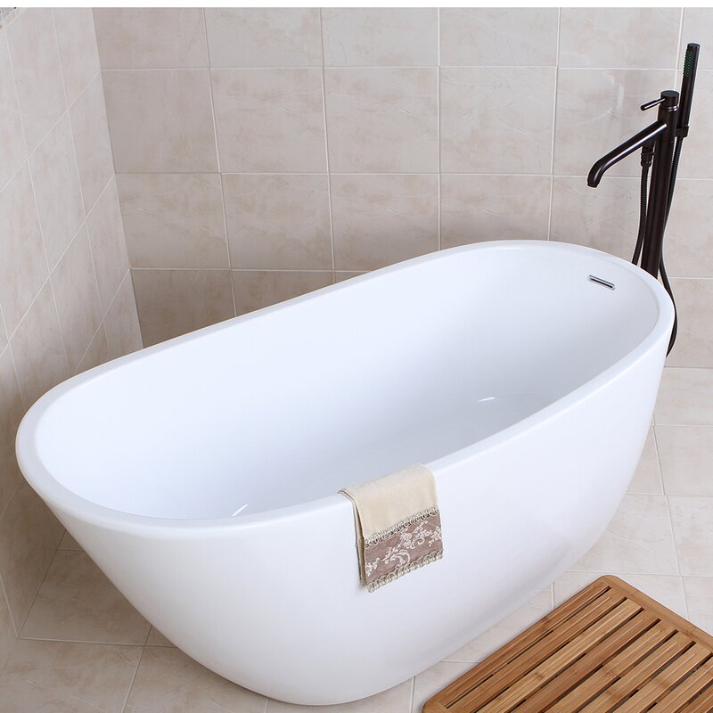 "aqua eden 59"" x 29"" soaking bathtub & reviews 