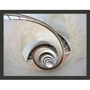 White Spiral Stairs 1.93m x 250cm Wallpaper by East Urban Home