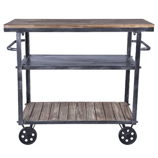 Gleason Kitchen Cart with Manufactured Wood Top