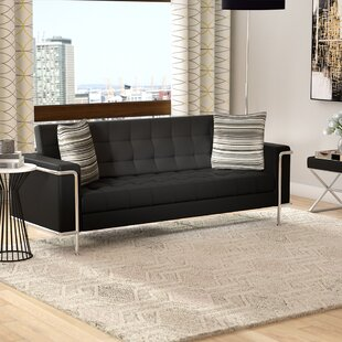 Black Leather Sofas Youu0027ll Love | Wayfair