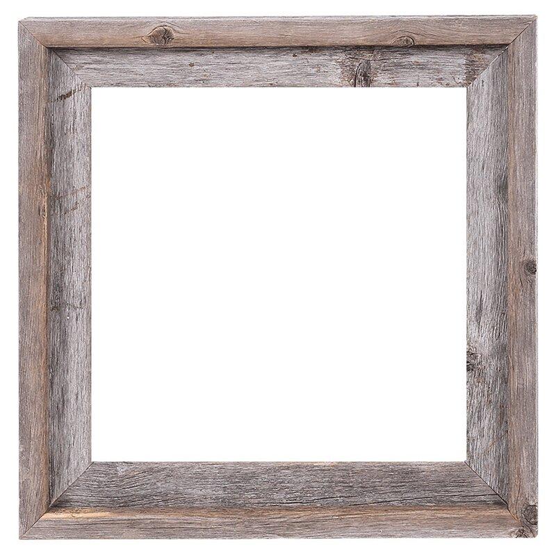 Rusticdecor Reclaimed Barn Wood Open Frame Amp Reviews Wayfair