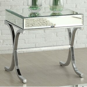 Yuri Mirrored Top End Table by ACME Furniture